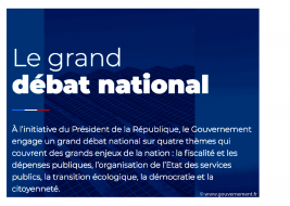 Grand Débat National - Réunion le 5 mars 2019